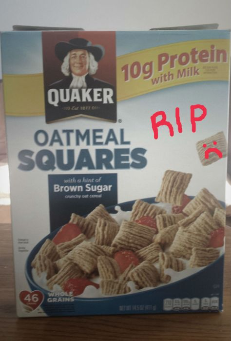 oatmeal squares cereal rip