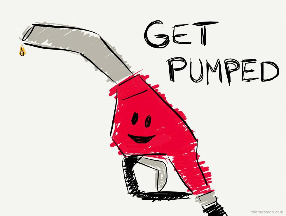 get pumped gas pump handle