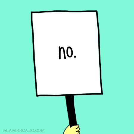 illustrated sign that says no
