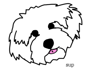 ava dog head sup illustration
